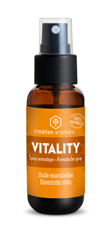 Vente  Spray atmosphérique Vitality 30 ml  - Creation Aromatic  - Creation Aromatic