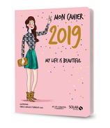 Vente  Mon cahier 2019, my life is beautiful