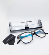Vente Articles : Lunettes marron 100%  protection Vision Blue  - Bello Mondo