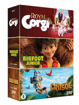 Vente DVD : Coffret Royal Corgi  / Bigfoot Junior / Robinson Crusoé