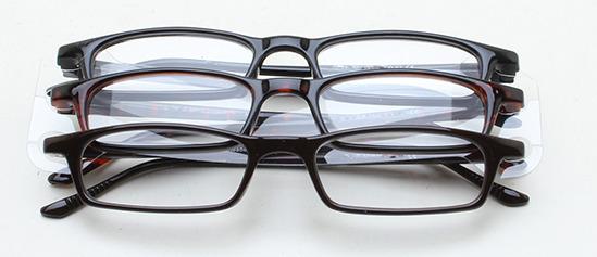 9a41b8155b19a7 Vente Articles   Pack de 3 paires de lunettes de lecture +2,00 brun