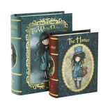 Vente Papeterie : Coffret en forme de livre Gorjuss White Rabbit - The Hatter  - Gorjuss