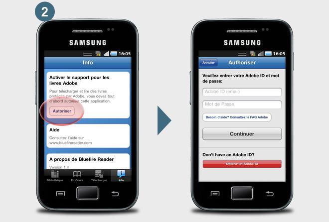 Télecharger l'application bluefire pour votre téléphone